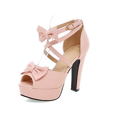 9cc726f62ba9e Mujer Zapatos Ante Primavera verano Pump Básico Sandalias Tacón Cuadrado  Punta abierta Hebilla Negro   Beige