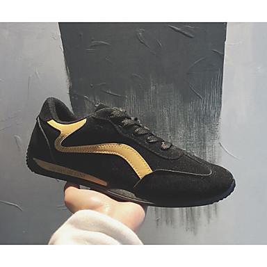Męskie Komfortowe buty Sztuczna skóra Wiosna / Jesień Adidasy czarny / biały / Czarny / Żółty / Na zewnątrz