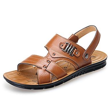 d9c92348ecd Hombre Zapatos formales Cuero Primavera   Otoño Sandalias Negro   Amarillo    Marrón   Casual