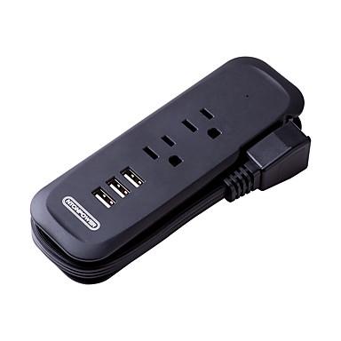 NTONPOWER Smart Plug RCP-2A3U-US-BK na Podróże / Sypialnia Przenośny / Kreatywne / Lekki i wygodny 100-240 V