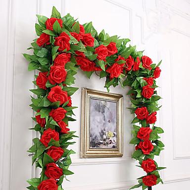 preiswerte Künstliche Blumen-Künstliche Blumen 1 Ast Party / Abends Hochzeit Rosen Wand-Blumen