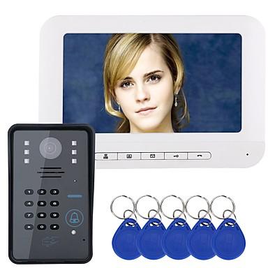 MOUNTAINONE Przewodowy / a 7 in Bezdotykowy 480*234*3 Pixel One to One video domofon