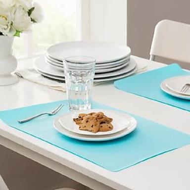 Nowoczesny Plastik Kwadrat Podkładki Dekoracje stołowe 1 pcs