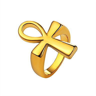 voordelige Herensieraden-Heren Knokkelring Zegelring Goud Zwart Zilver Roestvast staal Modieus Dagelijks Sieraden Kruis