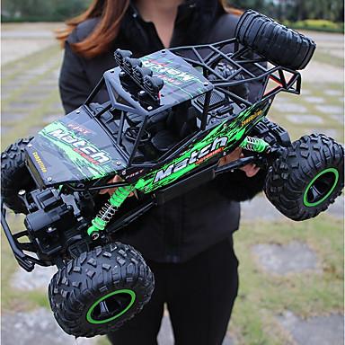 billige Droner og radiostyrte enheter-Radiostyrt Bil Titanfoot Monster Truck Rock Crawlers 4WD 4 Kanal 2.4G Buggy (Off- Road) / Fjellklatring Bil / Driftbil 1:12 Børsteløs Elektrisk 12 km/h Vanntett / Lommelykt / Støtsikker