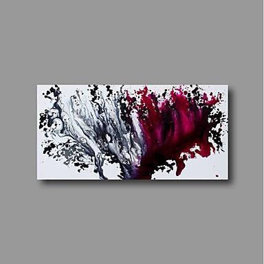 Hang-Malowane obraz olejny Ręcznie malowane - Abstrakcja Nowoczesne Brezentowy / Rozciągnięte płótno