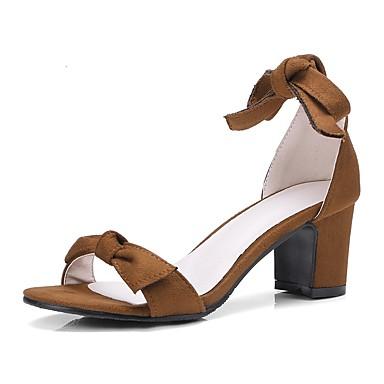 Talon Pièces Chaussures Amande amp; Femme 06627705 Bout D'Orsay Similicuir Rubans Deux Bottier Sandales Marron Eté ouvert Noeud Beige Rggq8AH