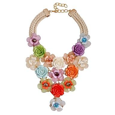 Damskie Naszyjnik Y. - Kwiat Klasyczny, Moda, Ponadgabarytowych Tęczowy 49 cm Naszyjniki Biżuteria Na Ceremonia, Party Wieczór
