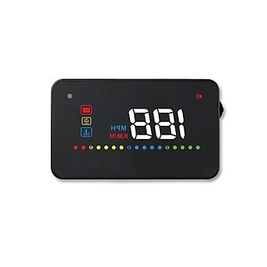 voordelige Automatisch Electronica-A200 3,5 inch LED Bekabeld Head Up Display LED-indicator Aanpassing van de helderheid Multifunctioneel display LCD-scherm Plug & play voor