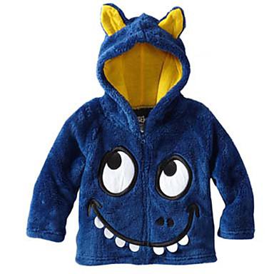 baratos Moletons Para Meninos-Bébé Para Meninos Simples Activo Estampado Padrão Algodão Blusa Azul