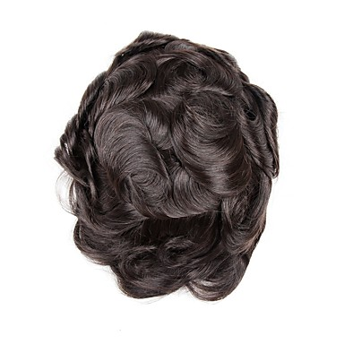 Męskie Włosy naturalne Tupeciki W 100% ręcznie wiązane