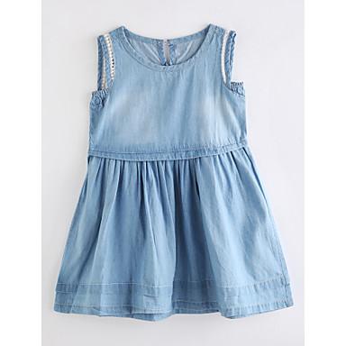 Brzdąc Dla dziewczynek Podstawowy Jendolity kolor Bez rękawów Sukienka / Urocza