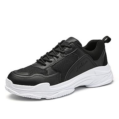 Hombre Zapatos Tul Verano Confort Zapatillas de deporte Negro C2b1d