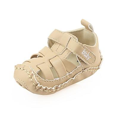 baratos Sapatos de Criança-Para Meninos / Para Meninas Courino Rasos Criança (9m-4ys) Conforto / Primeiros Passos / Sapatos de Berço Velcro Bege / Café / Marron Primavera