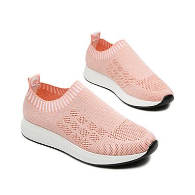 Basket Eté Tricot Printemps Rose Plat Femme Gris Noir Chaussures Talon Confort 06640306 7qXRnAx