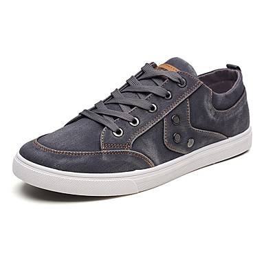 Muškarci PU Ljeto Udobne cipele Sneakers Crn / Dark Blue / Sive boje