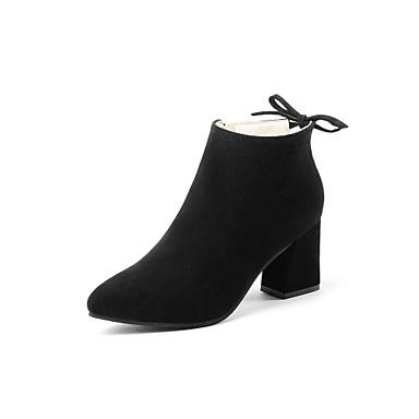 Women's PU(Polyurethane) Fall / Winter Combat Boots Boots Flat Heel Round Toe Mid-Calf Boots Zipper / Tassel Black / Dark Red / Khaki