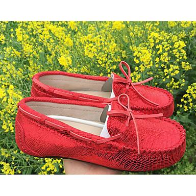 Rouge Printemps et Bas 06620713 Bleu Automne Cuir Talon Chaussures Mocassins Femme Confort Chaussons D6148 EPYqpx