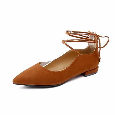 Printemps Confort Femme Talon 06642247 Ballerine Noir Plat Ballerines Nubuck Cuir Chaussures Marron Gris Automne trqqFSf