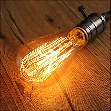 1 szt. 40 W E26 / E27 ST64 Ciepła biel 2200-2700 k Retro / Przygaszanie / Dekoracyjna Żarówka Edisona w stylu vintage 220-240 V