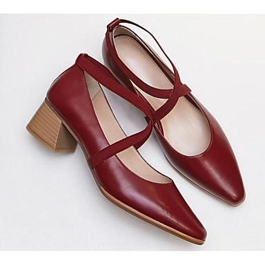 Bottier Vin Nappa 06656007 à Talon Marron Talons Confort Chaussures Cuir Printemps Chaussures Basique Femme Escarpin Cuir Noir qU6gaw4