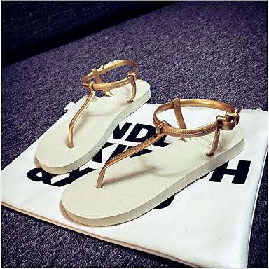 Pentru femei Pantofi PVC Vară Confortabili Sandale Toc Drept Negru / Bej