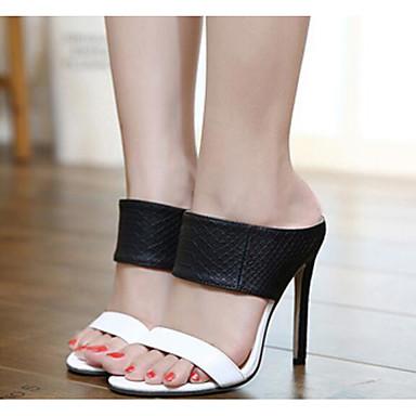 Aiguille Talon Eté Sandales Polyuréthane Femme Confort 06665719 Chaussures blanc Escarpin Basique Noir 476wg