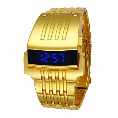 baratos Relogio Dourado-Homens Relógio Esportivo Relogio digital Quartzo Preta / Prata / Dourada Impermeável Digital Luxo Fashion - Dourado Preto Prata