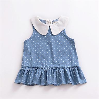 04d0c0bf320 Μωρό Κοριτσίστικα Βασικό Πουά Αμάνικο Πολυεστέρας Φόρεμα Μπλε Απαλό / Νήπιο