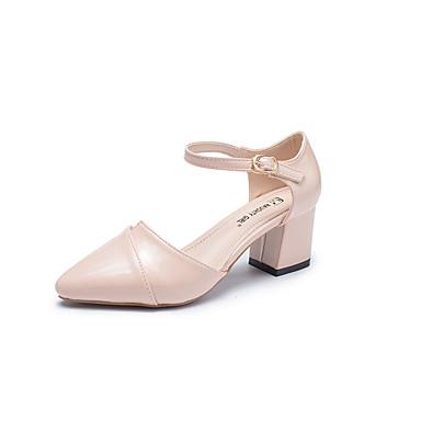 Pentru femei Pantofi PU Vară Balerini Basic Tocuri Toc Îndesat Bej / Migdală