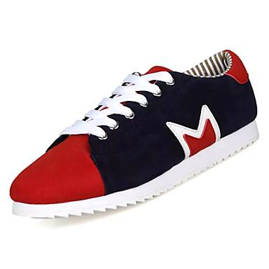Men's PU(Polyurethane) Fall Black Comfort Sneakers Color Block Black Fall / Yellow / Blue 7119e4
