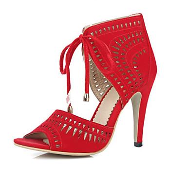 Noir Nubuck Bleu Chaussures Aiguille Talon Sandales Automne Confort Nouveauté Rouge Cuir ouvert hiver Bout 06671819 Femme W16RB1
