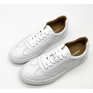 été Printemps Cuir 06682225 Beige Femme Talon Blanc Confort Basket Plat Chaussures HwtSqa