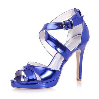 Verni Argent Femme amp; Or Boucle Aiguille Bleu Mariage Cuir Talon Pièces ouvert D'Orsay Bout Chaussures Printemps été 06700146 Sandales Deux qxaxwCE