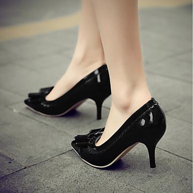 à Printemps Vert Chaussures Aiguille Bout Noeud Talon pointu Talons Noir été Chaussures Femme Escarpin 06675938 Blanc Basique Similicuir 0HxSEnwq1