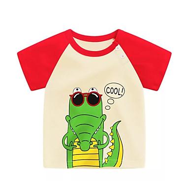 Bambino Unisex Essenziale Con Stampe - Collage Manica Corta Standard Cotone - Poliestere T-shirt Bianco - Bambino (1-4 Anni) #06697417