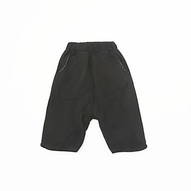 Dzieci Dla chłopców Aktywny Solidne kolory Poliester Spodnie Czarny 100
