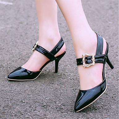 Boucle Rouge pointu amp; Aiguille Talon été D'Orsay Chaussures Printemps Deux Bout Pièces Vert Sandales Beige Femme 06697501 Similicuir wqFOWZ