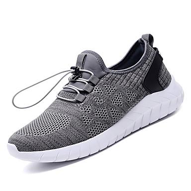 Men's Fabric / PU(Polyurethane) Summer Comfort Black Athletic Shoes Running Shoes Black Comfort / Dark Blue / Dark Grey f6f78f
