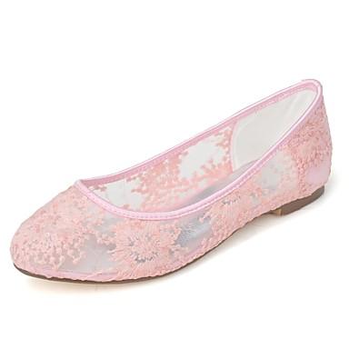 Plat Soirée amp; 06694398 Ballerine Bout Printemps été Blanc Tricot Rose Evénement Chaussures rond Talon Ballerines Mariage Noir Femme 60IxwTqT