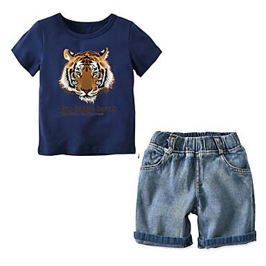 Copii Băieți Mată Manșon scurt Set Îmbrăcăminte