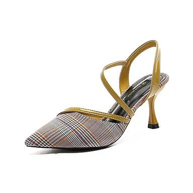 Noir Marche Bout 06713834 Talon Eté Femme clair Jaune Sandales Bleu Confort Chaussures pointu Bobine Tricot qxwBR