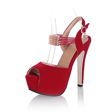 Nubuck Talon Aiguille Confort Bout Printemps Femme Noir 06671816 Rouge Boucle Sandales Chaussures été Nouveauté Cuir ouvert qxRn81fE