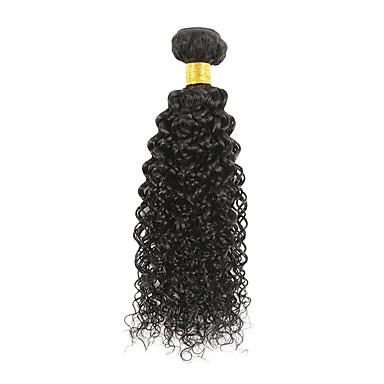 baratos Extensões de Cabelo Natural-Fulgent  Sun weave do cabelo Extensões de cabelo humano Encaracolado Cabelo Humano Extensões de Cabelo Natural Cabelo Brasileiro Natural 1 Peça Para Mulheres Negras ondulação Mulheres Preto Natural