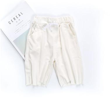 Dzieci Dla chłopców Aktywny Solidne kolory Poliester Spodnie Biały 130