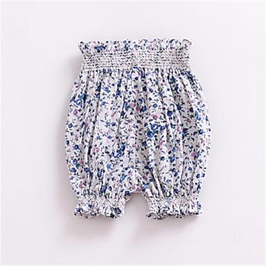 billige Babybukser-Baby Unisex Grunnleggende Ensfarget Shorts Rosa
