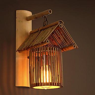 Nowy design Retro / Vintage Lampy ścienne Na zewnątrz Drewno / Bambus Światło ścienne 220-240V 40 W / E27