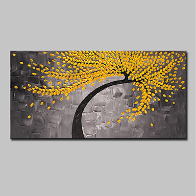 Oil Painting Hand Painted - Landscape / Floral / Botanical Modern Canvas