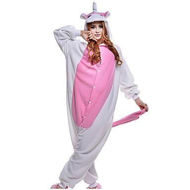Ενηλίκων Πιτζάμα Kigurumi Unicorn Πιτζάμα Onesie Φλις Ροζ Cosplay Για  Άνδρες και Γυναίκες ζώο Πυτζάμες Κινούμενα 4e6bf988082