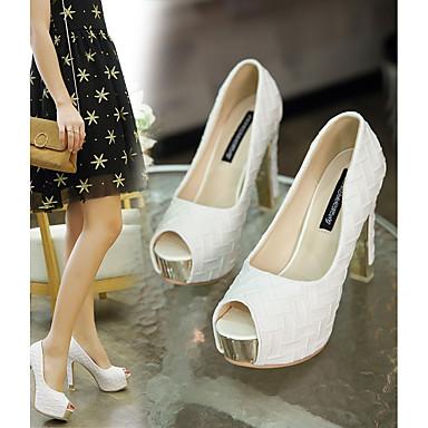 Talons 06716533 Noir Femme Polyuréthane Automne Confort Chaussures Blanc Aiguille à Chaussures Talon Y1wUfYq
